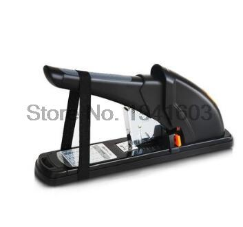 2017 New valuable Deli 0385 Office Stationary Heavy duty thick stapler 65% power save staples hot sale with color black 2017 one piece new deli 0346 all metal manual plier stapler school office supplies staples hot random delivery of three colors