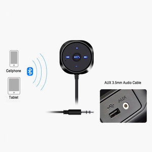 Image 5 - Bluetooth 4.0 Wireless Music Receiver 3.5mm Adapter Handsfree Car AUX Speaker bluetooth car kit  2.1A USB Car Charger