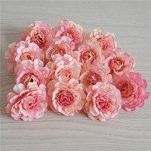 Лот 500 шт. Шелковая Роза головы DIY Свадебный декор гирлянды цветов стены белый ню розовый персик синий желтый