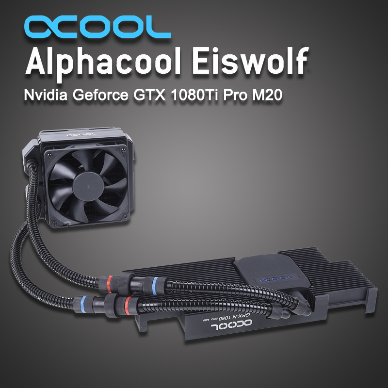 Alphacool Graphics card integrated water cooled radiator for ASUS Eiswolf gtx 1080Ti gpu cooler-in Fans & Cooling from Computer & Office    1