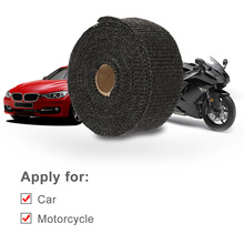 5m*5cm*1.5mm Hot Heat Exhaust Thermo Wrap Shield Protective Tan Tape Fireproof Insulating Cloth Roll Kit for Motorcycle exhaust