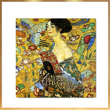Hand-painted figure oil painting world famous painterGustav Klimt  khalim bedroom decorate the home and office lobby cafe