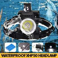 3 modes 280000lm LED Smuxi headlamp t6 headlight head light waterproof flashlight use 3* 18650 for hunting cycling camping