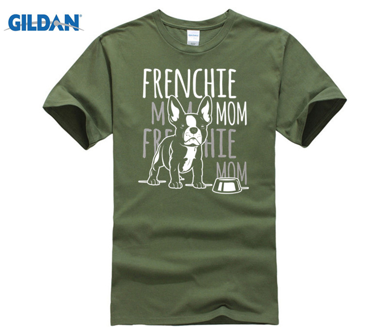 GILDAN Womens Frenchie Mom Mother of French Bulldog Dog Lover Gift T-Shirt Hot Womens T-shirt dress T-shirt