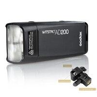 Godox AD200 эксклюзивная карманная вспышка 200 W 2,4G Беспроводной X Системы ttl вспышка для фотокамер Speedlite HSS 1/8000 s фотовспышка & Godox AD E держатель для ц