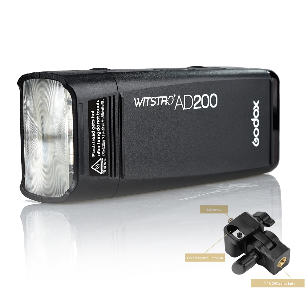 Sistemi Xbox Wireless Godox AD200 Flash 200W 2.4G Wireless X System - Kamera dhe foto