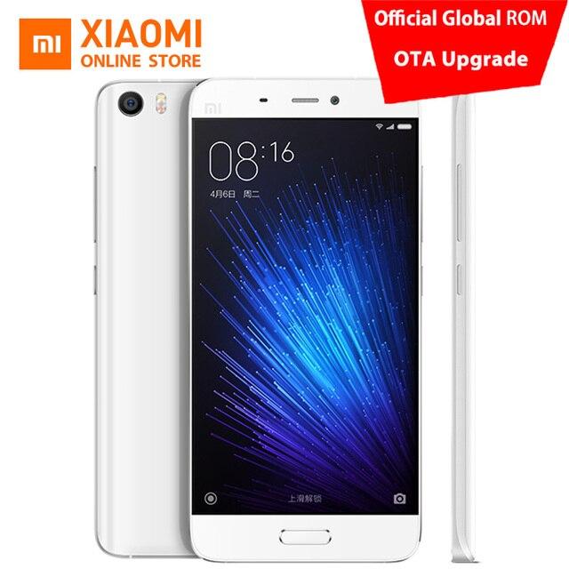 "Original Xiaomi Mi5 Primer Teléfono Móvil 5.15 ""Snapdragon 820 Mundial Oficial ROM 3 GB 64 GB Huella Digital de 16MP 4G LTE NFC MIUI 8.5"