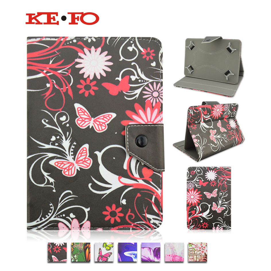 Print PU Leather Stand case Cover For Visual Land Prestige Prime 10ES 10.1 inch universal Accessories+Center Film+pen KF492A