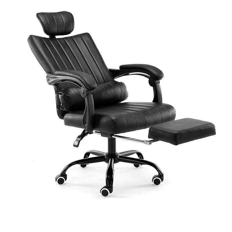 Computer office chair lift rotate chair boss lay fashion household leather chair engineering staff chair Furniture products. high quality boss chair home computer chair pu office swivel chair seat bow lay staff meeting seat