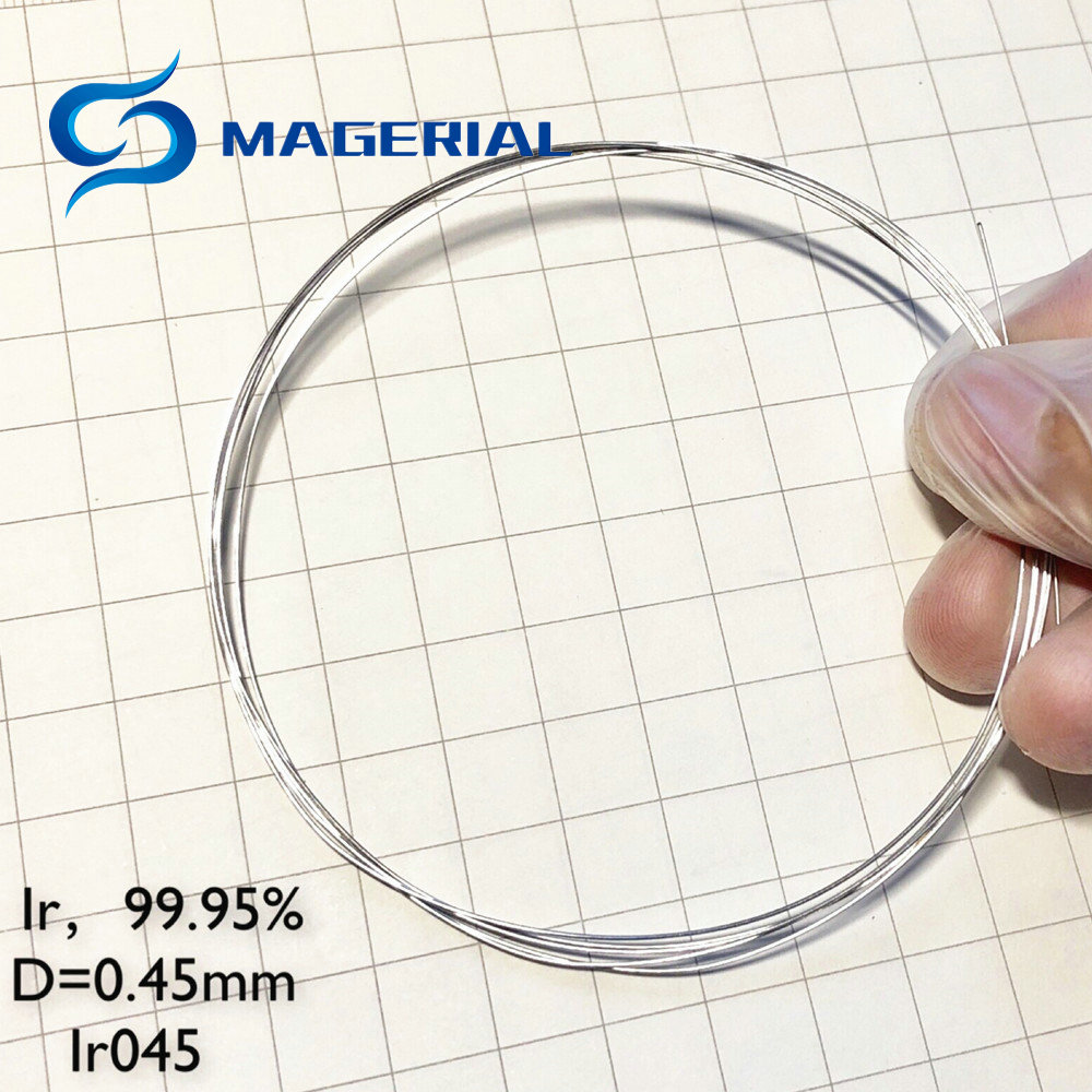 High Purity Iridium Ir Wire Dia. 0.45-0.5mm 99.95% 4 Research And Development Element Metal Simple Substance