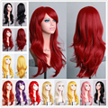 Super Fashion Long Curly Wavy Layer Full Head Wigs 100% Heat Resistant Synthetic Hair Wig Women's Indispensable Cosplay Dress