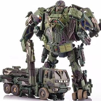 цена на Transformation Hound WJ Metal Part Truck Model Toys Action Figure Boy Gifts Deformation Robot Car 8026