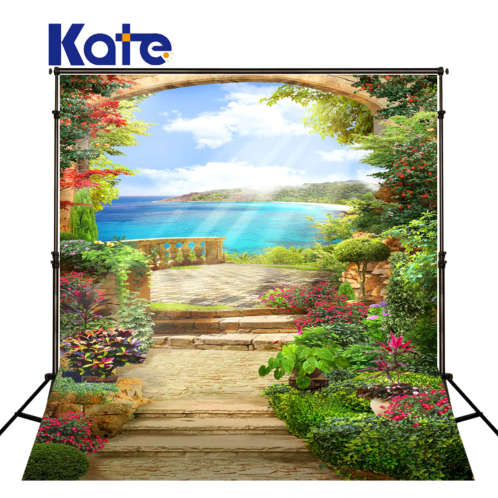 KATE Photo Background 8X8FT Romantic Backgrounds Flower Garden Backgrounds Photography Scenic Backdrops Sea Backdrop Backgrounds сумка kate spade new york wkru2816 kate spade hanna