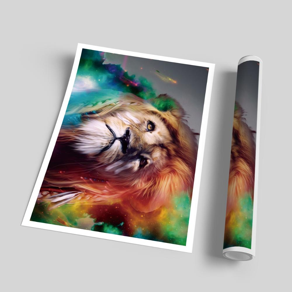 Watercolor Funny Expression Cute Animal Panda Dog Pig Cat Canvas Art Painting Print Poster Children 39 s Bedroom Home Decoration in Painting amp Calligraphy from Home amp Garden
