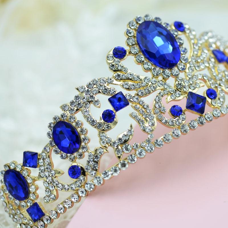 Wedding Hairstyle Jewellery: Bridal Jewelry Crown Headdress European Exaggerated Big