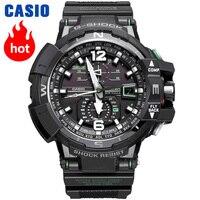 Часы Casio G SHOCK Мужские кварцевые спортивные часы Солнечная 6 Радио таблица Сапфировый компас Водонепроницаемый g shock Часы GW A1100