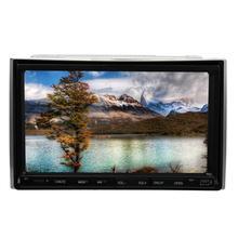 """Новый Дизайн GPS стерео 7 """"dvd-плеер автомобиля двойной DIN в тире автомобиля fm Радио видео плеер с bluetooth IPOD Бесплатная GPS Географические карты"""