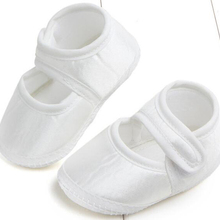 baby shoes new born girls shoes satin wh