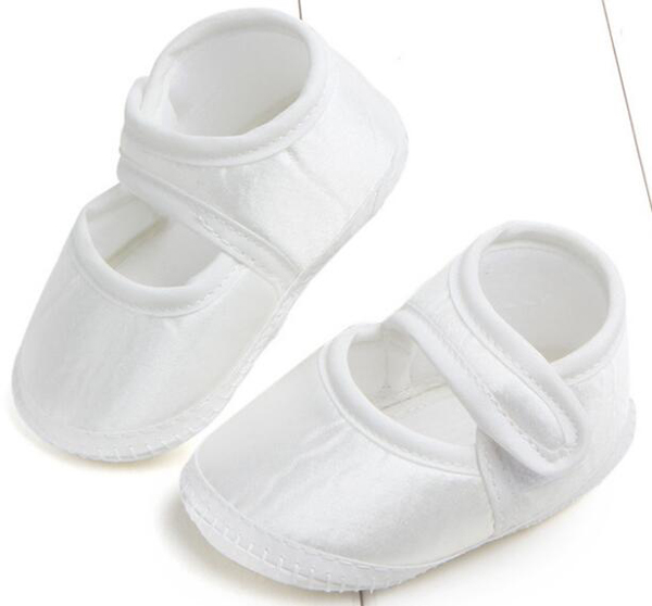 Baby Shoes New Born Girls Shoes Satin White Christenning Shoes Indoor SandQ Baby Mary Jane Classical Popular In Stock 0-6months