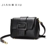لربيع وصيف jianxiu صغيرة بسيطة رسول حقائب العلامة التجارية الشهيرة تقسيم النساء crossbody الكتف حقيبة جلدية للسيدات 3 ألوان