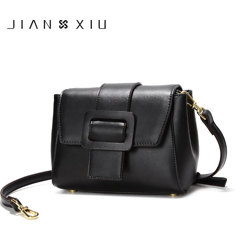 JIANXIU Spring Summer Small Simple Messenger Bags Famous Brand Split Leather Women Crossbody Shoulder Bag For Ladies 3 Colors lacattura small bag women messenger bags split leather handbag lady tassels chain shoulder bag crossbody for girls summer colors