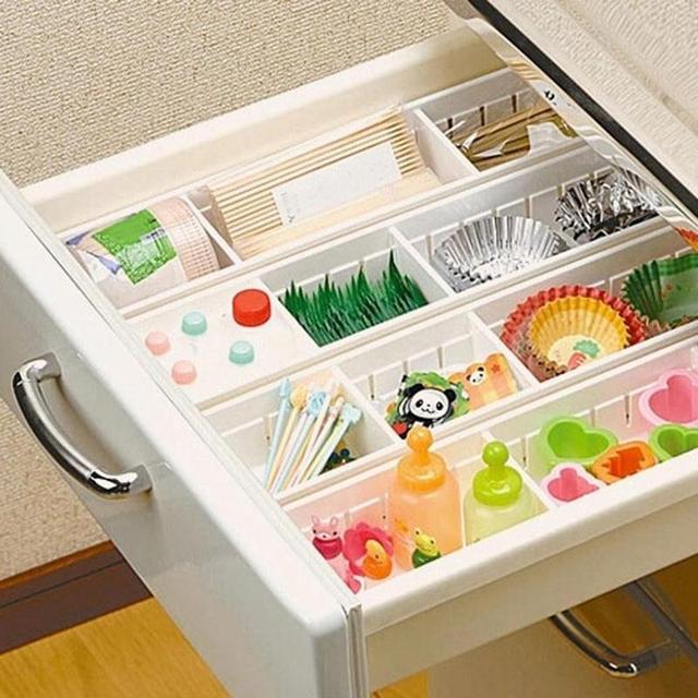 Adjule Drawer Organizer Home Kitchen Bedroom Board Free Divider Storage Box Clothing