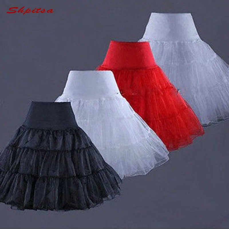 שחור אדום לבן כחול טול קצר תחתונית לוליטה תחתוניות לחתונה שמלת קרינולינה ילדה אישה חישוק חצאית