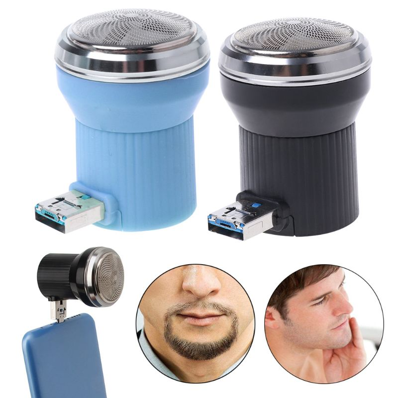 Creative Electric Shaver Mini Portable Plug In Travel Beard Trimmer Razor Mini USB Cell Phone Razor Trimmer Shaver