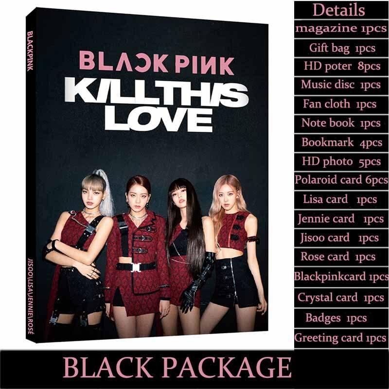 2019 mode Kpop Blackpink exquis boîte cadeau affiche Photocard cadeau Bog et Cd Blackpink Fans cadeau d'anniversaire pour les filles livraison directe - 2