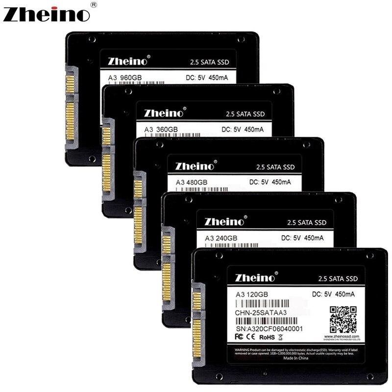 Zheino 2,5 дюймов SATAIII SSD 120 ГБ 240 ГБ 360 ГБ 480 ГБ 960 ГБ 128 ГБ 256 ГБ 512 ГБ Внутренние твердотельные накопители диск SSD