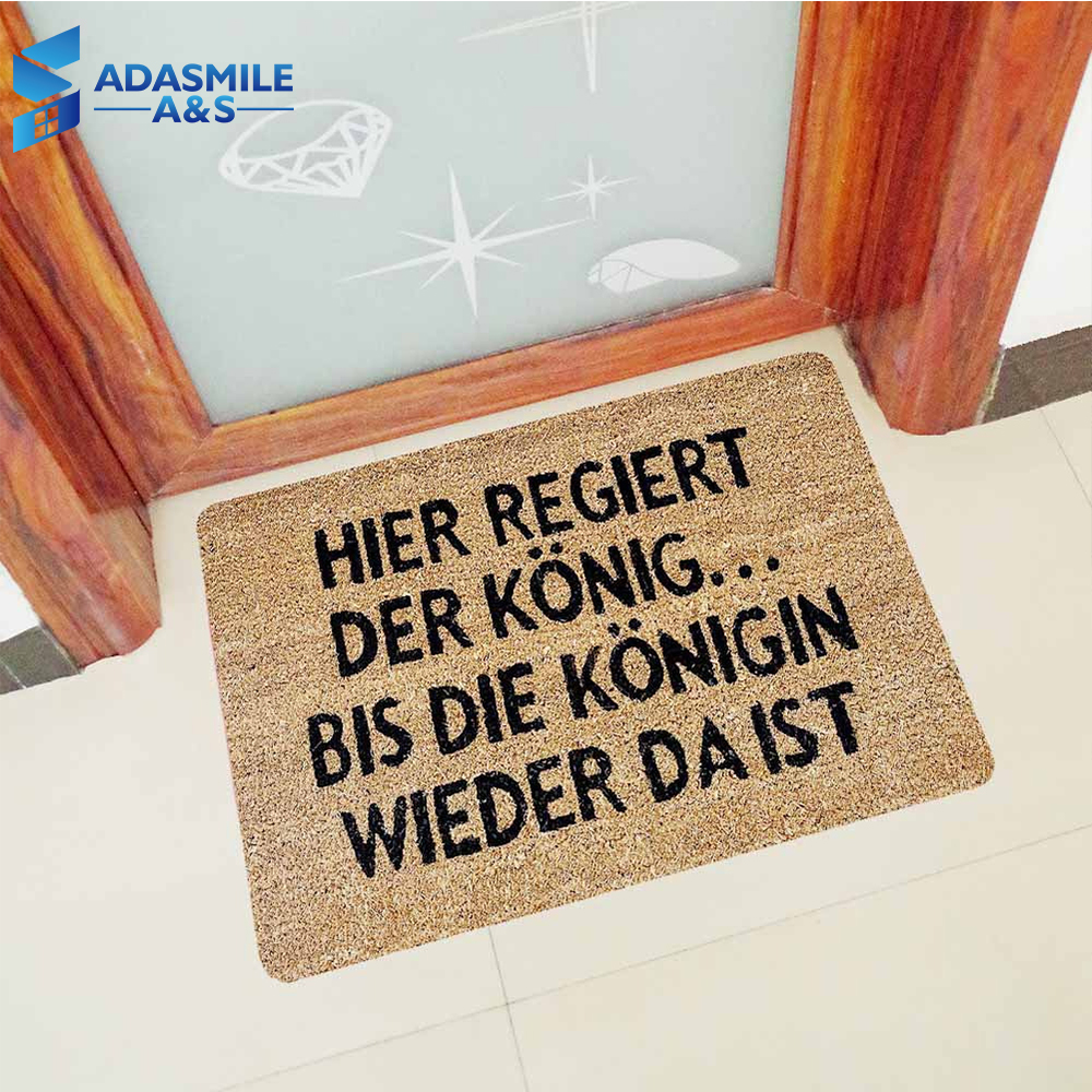 Kitchen Rugs Us 8 99 37 Off 60 90cm Rubber Kitchen Rugs Hallway Mats German Languages Letters Entrance Indoor Non Slip Floor Mat Bath Mat For Home Decor In Mat