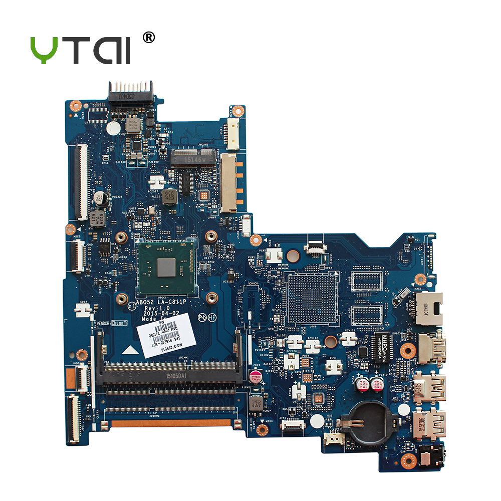 YTAI N3050 processor for HP notebook 15-AC series laptop motherboard 815248-501 N3050 cpu ABQ52 LA-C811P mainboard fully tested ks black dial rose gold stainless steel case date display automatic mechanical fluorescence hands leather strap men watch ks234