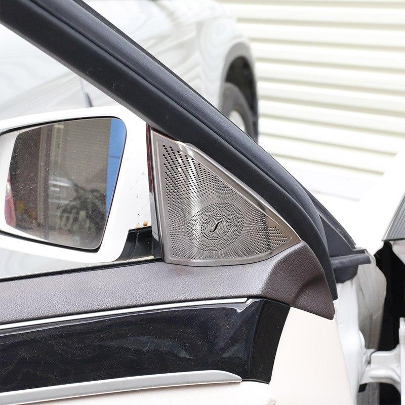 2 шт., для Mercedes Benz W212 E class, автомобильный Стайлинг, автомобильные дверные колонки, крышка, аудио, стерео защита, наклейка, внутренняя отделка