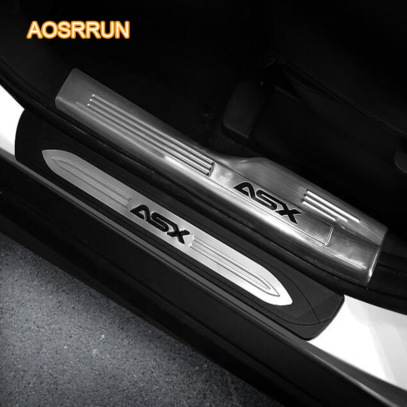 AOSRRUN Free shipping Car accessories Stainless Steel scuff plate door sill For Mitsubishi ASX 2018 стоимость