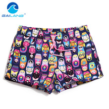 Gailang Brand Women Shorts Quick Drying Swimwear Swimsuits Woman Shorts Bottom Plus Size XL Boardshort Bermuda Masculina