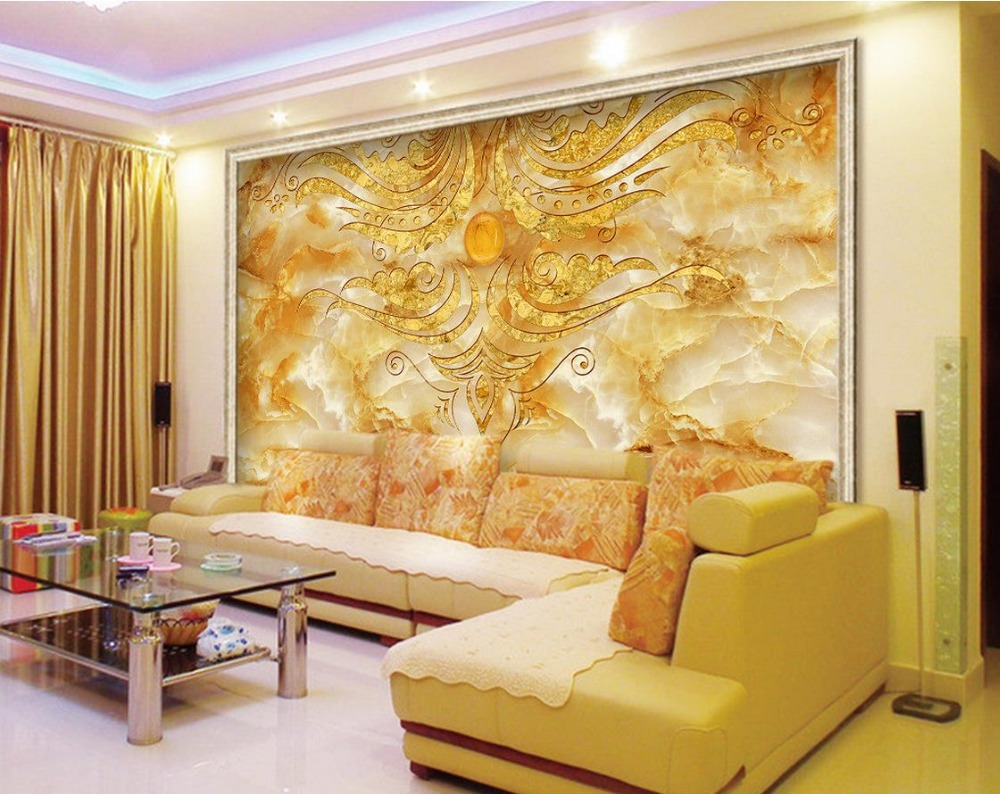 3d Murals Wallpaper For Living Room Stone Marble Backdrop