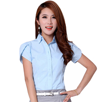 Career Lady Fashion White Shirts Plus Size S 4XL Petal Sleeve Clothing 2016 Office Classic Women