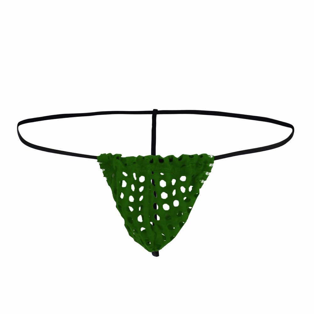 Moda Mens G-corda Cueca Bulg Esportes Ocos Cuecas Sexy T-back
