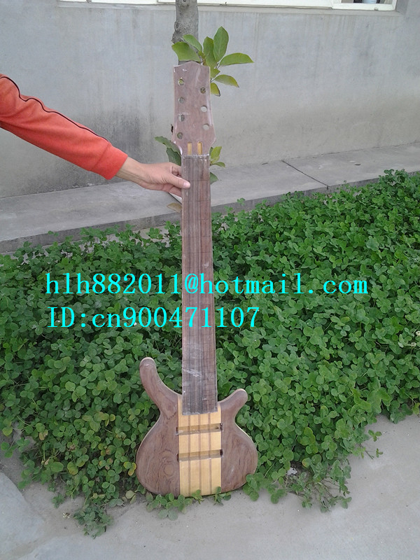 new  semi-finished 7-strings electric bass guitar with brick layer mahogany body in natural+foam box+free shipping F-1759  цены онлайн