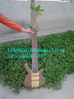 new semi finished 7 strings electric bass guitar with brick layer mahogany body in natural+foam box+free shipping F 1759