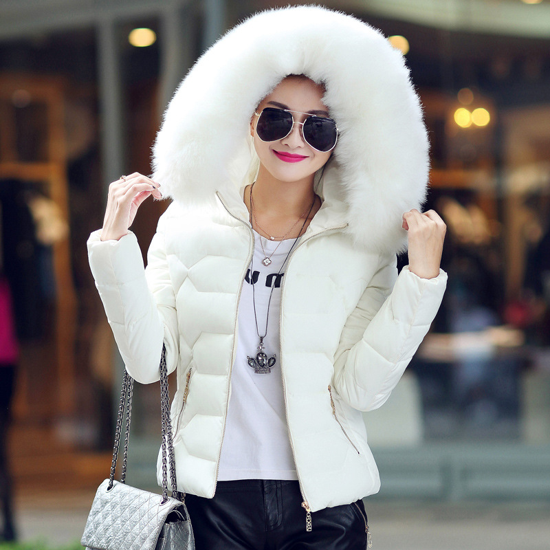 ФОТО New Womens Winter Jackets And Coats Women's Parkas Thick Warm Faux Fur Collar Hooded Anorak Ladies Jacket Female Manteau Femme