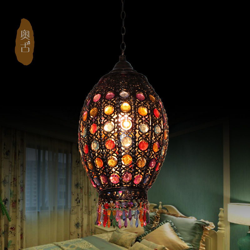 Southeast creative personality led light bar vintage chandelier Thai coffee bar balcony lights D-68 vintage clothing store personalized art chandelier chandelier edison the heavenly maids scatter blossoms tiny cages