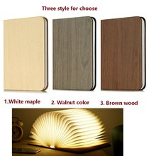 USB LED Book Lights Home Bedside Reading Lighting Rechargeable Magnetic Colorful Foldable Wooden Desk Lamp Green/Red/Warm/Blue