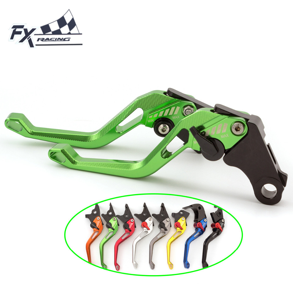 FX CNC Aluminum New Adjustable 3D Rhombus Motorcycle Brake Clutch Lever For Yamaha FZ16 2012 - 2016 2015 2014 2013 Motorbike for yamaha yzf r15 2013 2016 aluminum cnc adjustable extending brake clutch lever blue