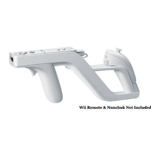 Eastvita Remote Controller For Wii Zapper Gun Detachable Shooting Gun For Nintend Wii Controller Gaming Accessories White