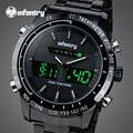 INFANTRY Digital LED Watch Men Sports Watch Luxury Brand Full Steel Male Clocks Military Quartz Wristwatch Relogio Masculino
