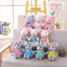 New Creative Cute Small Mouse Short Plush Toys Stuffed Animal Soft Doll Toy Children Gift Baby 25cm