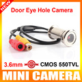 "New Upgrade 1/4"" 550TVL CMOS 3.6MM CCTV Mini Door Eye Hole Security Color Camera Doorview CCTV Camera"