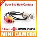 """Nova Atualização 1/4 """"550TVL CMOS 3.6 MM CCTV Mini Porta Eye Buraco Cor Câmera de Segurança Doorview CCTV Camera"""