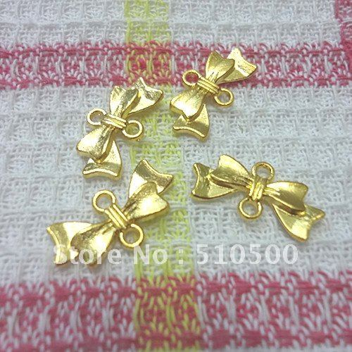 70PCS gold color zinc alloy pendant bow jewelry accessories fashion DIY jewelry alloy panda pendant jewelry set